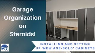 Garage Cabinets Install - Organization gone mad!
