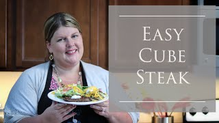 Easy Cube Steak Recipe With Pan Fried Potatoes