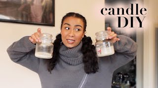 How I Reuse / Upcycle / Clean Out My Candle Jars | DIY For Storage / Organization 2020