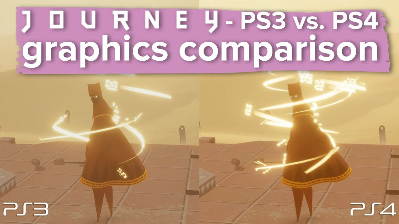 A Side-By-Side Comparison Of Journey On The PS3/PS4
