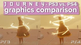 Journey - PS3 vs. PS4 gameplay and graphics comparison