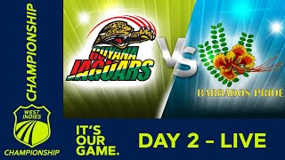 🔴LIVE Guyana vs Barbados - Day 2 | West Indies Championship | Friday 13th March 2020