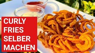 ♨️ GRILLBLITZ: Curly Fries selber machen, Pommes Locken, Grillbeilagen, Rezept Pommes Frites Grill