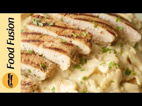 Creamy Mushroom Pasta with chicken Recipe By Food Fusion
