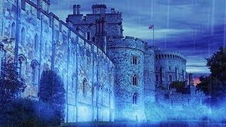 Rain Sounds for Sleep | Castle Rainstorm White Noise 10 Hours