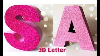 How To Make 3D Letter| Home Decor| Birthday Decoration Ideas (Mass Crafts)