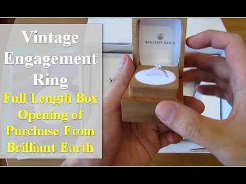 Antique Style Engagement Ring – Complete Box Opening!