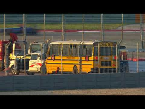 School Bus On Track during F4 U.S. Championship COTA Race