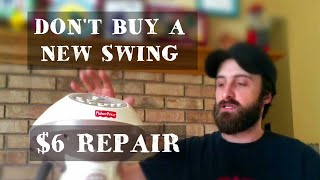 HOW TO FIX A FISHER PRICE BABY SWING   SWING STOPPED SWINGING!!!