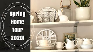 SPRING HOME TOUR 2020! VINTAGE COTTAGE STYLE! Decorate With Thrift Store Finds!