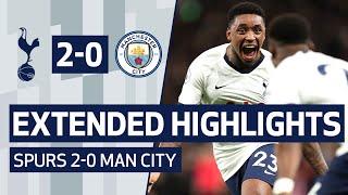 EXTENDED HIGHLIGHTS | SPURS 2-0 MAN CITY | Bergwijn & Son goals beat City!