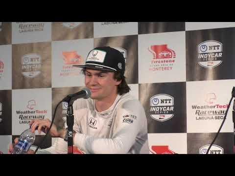 2019 IndyCar Laguna Seca Power and Herta Q&A Part 2