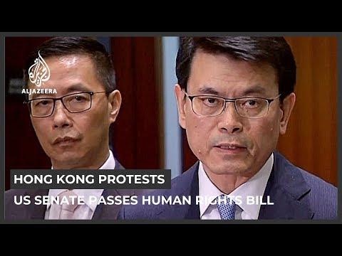 US Senate passes Hong Kong human rights bill