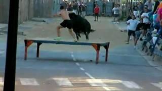 preview picture of video 'penya El Bario Albuixech 2010, subida tercera vaca en tablao'