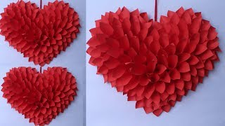 WOW !! Amazing Heart Wall Hanging    Best Out Of Waste Idea 2019    Handmade Things    A Art