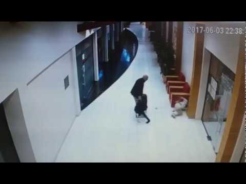 клип от хотел в Слънчев бряг на който се вижда деянието на шведския гражданин Георг Сунберг