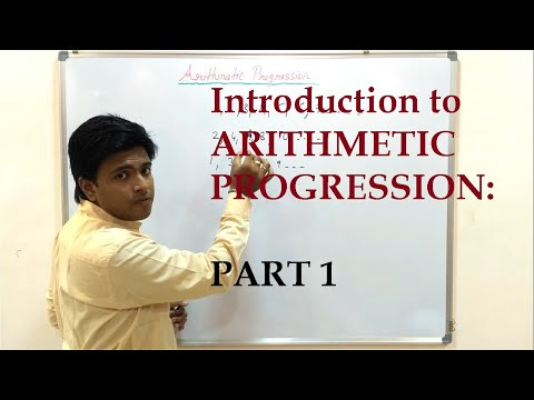 Introduction to Arithmetic Progression : PART 1