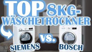 DER BESTE 8KG TROCKNER? Siemens vs. Bosch | Wärmepumpentrockner Vergleich