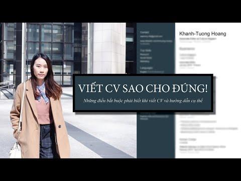 Mẹo và Cách Viết CV Xin Việc - CV Bằng Tiếng Anh
