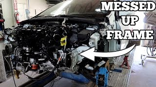 My WRECKED Ford Focus RS Getting It's Frame Repaired After Accident!