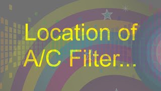 WHERE IS YOUR MITSUBISHI AC FILTER LOCATED??????
