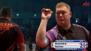 2019 German Darts Grand Prix Round 2 M.Smith vs Evans