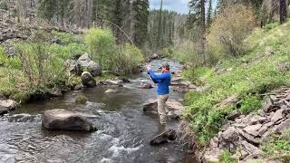 Fly fishing and backpacking in the White Mountains of Arizona, with my nephew Johnny.