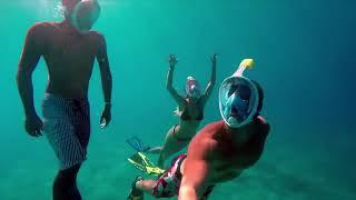 Маска для плавания под водой снорклинга дайвинга от компании Happywatch - видео