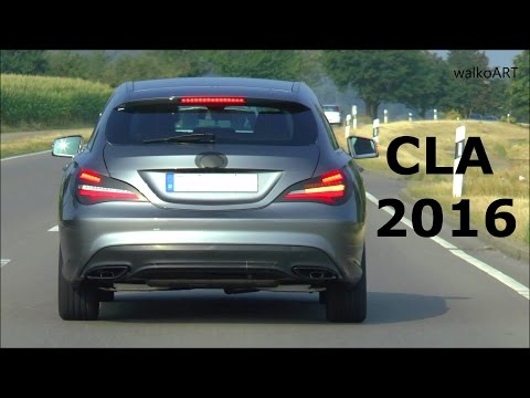 first spy video of mercedes cla shooting brake facelift. Black Bedroom Furniture Sets. Home Design Ideas