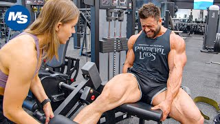 Regan Grimes Leg Day On Prep At Pure Muscle & Fitness Gym