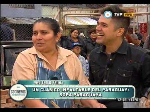 Sopa paraguaya y mazamorra