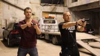 CROSSING LINES - Richard Flood getting ready for the shooting