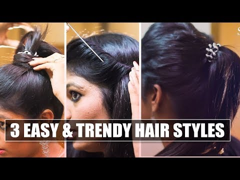 3 Simple and Trendy hairstyles to work & casual outing | Say Swag