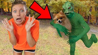 POND MONSTER FACE REVEAL AT 3AM!! BY GRACE SHARER CARTER STEPHEN EXTREME HIDE AND SEEK CHALLENGE