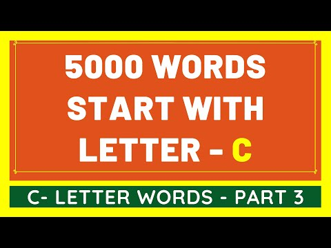 5000 Words That Start With C #3 | List of 5000 Words Beginning With C Letter [VIDEO]