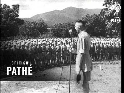 In 1942, the American army trained Chinese soldiers to fight the Japanese – in India