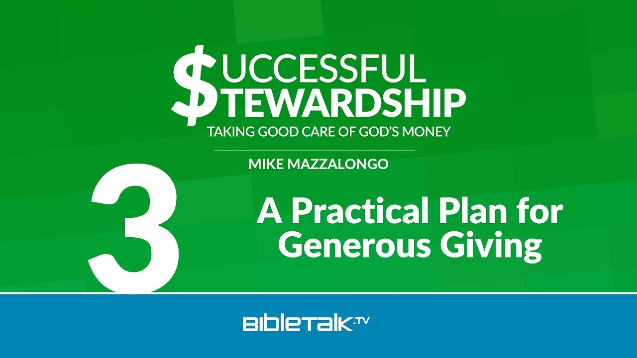 3. A Practical Plan for Generous Giving