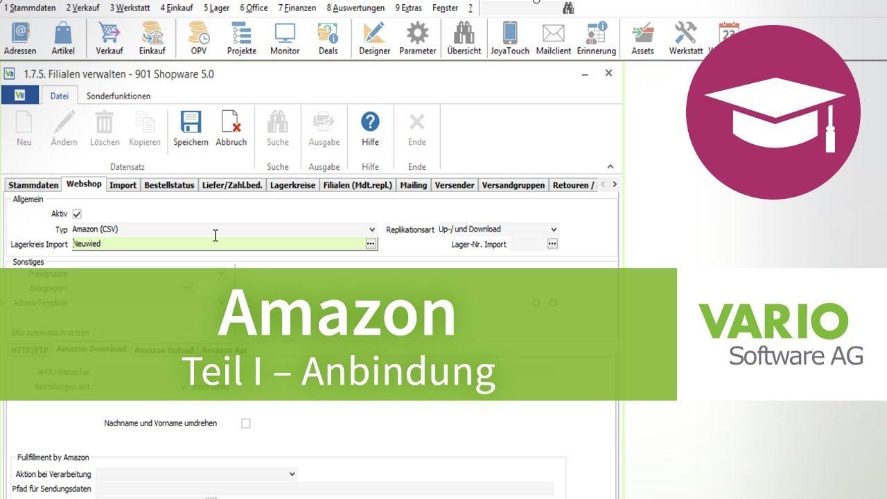 Amazon-Schnittstelle – Anbindung