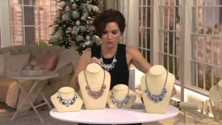 BaubleBar Contessa Bib Necklace On QVC