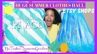 💜HUGE SUMMER CLOTHES HAUL 2018 (GIRLS) | THE CHILDRENS PLACE, BABIES R US & ETSY SHOPS💜