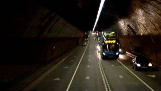 preview picture of video 'Trip through the Queensway Mersey Tunnel from the top of an Arriva Bus'