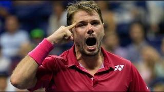 Stan Wawrinka - Stanimal Mode Points against Djokovic - Crazy Winner in Tennis  [HD]