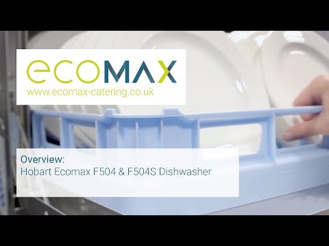 Overview: Hobart Ecomax F504 & F504S undercounter dishwasher