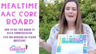 Using AAC CORE Boards During Meal Times To Build Communication