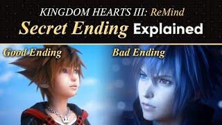Kingdom Hearts 3 ReMind DLC SECRET ENDING EXPLAINED (TRUE AND BAD ENDINGS)