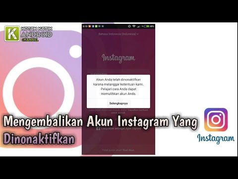 Video Cara Mengembalikan Akun Instagram Yang Dinonaktifkan