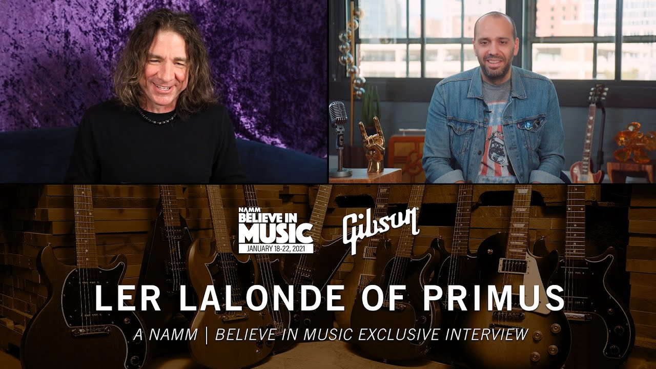 NAMM 2021: Gibson Welcomes Ler LaLonde of Primus