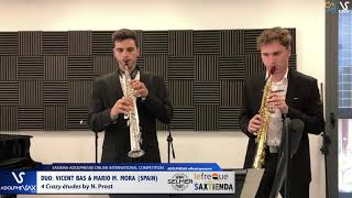 DUO VINCENT BAS & Mario M. MORA play 4 Crazy etudes by N. Prost
