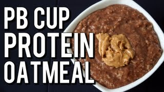 Quick Bodybuilding Peanut Butter Cup Oatmeal (High-Protein Bulking Breakfast)