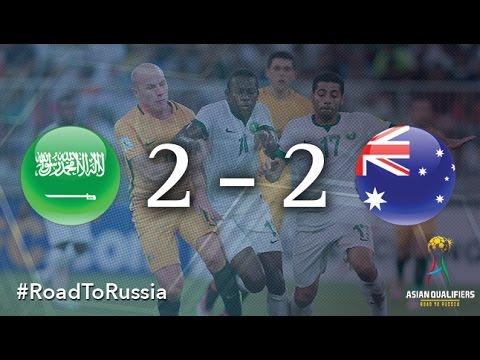 Саудовская Аравия - Австралия 2:2. Видеообзор матча 06.10.2016. Видео голов и опасных моментов игры